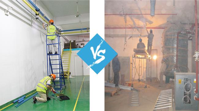 安耐特管路施工现场对比传统钢管路.jpg